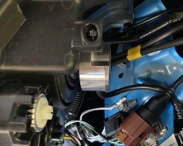 光軸調整の歯車確認