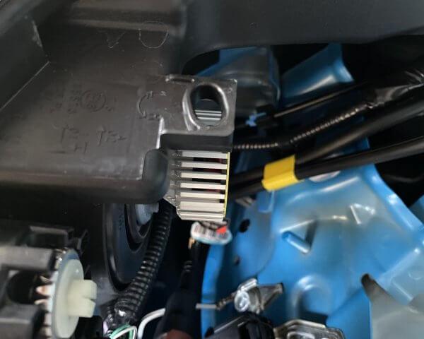 光軸調整の歯車確認_他LEDヘッドライト