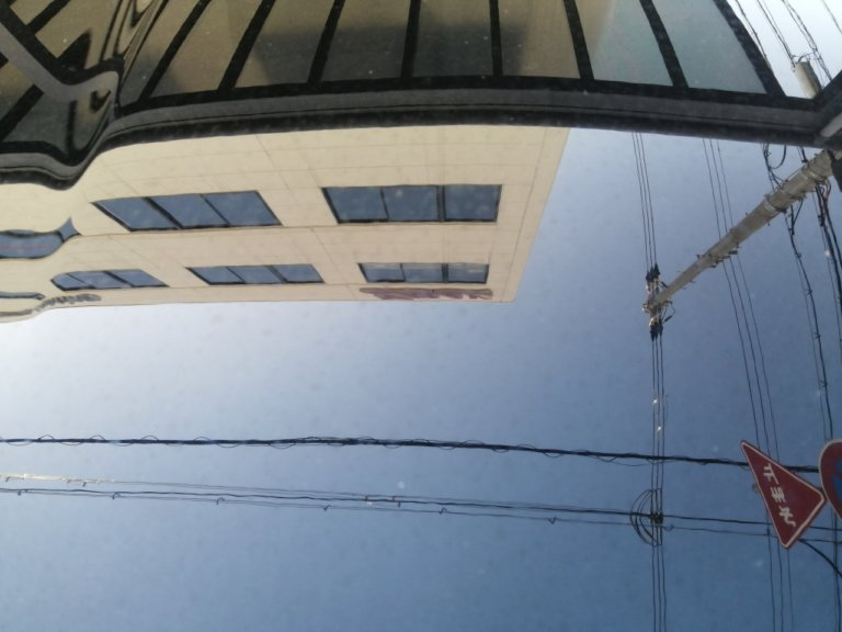 ディーラーにてガラスコーティング施工