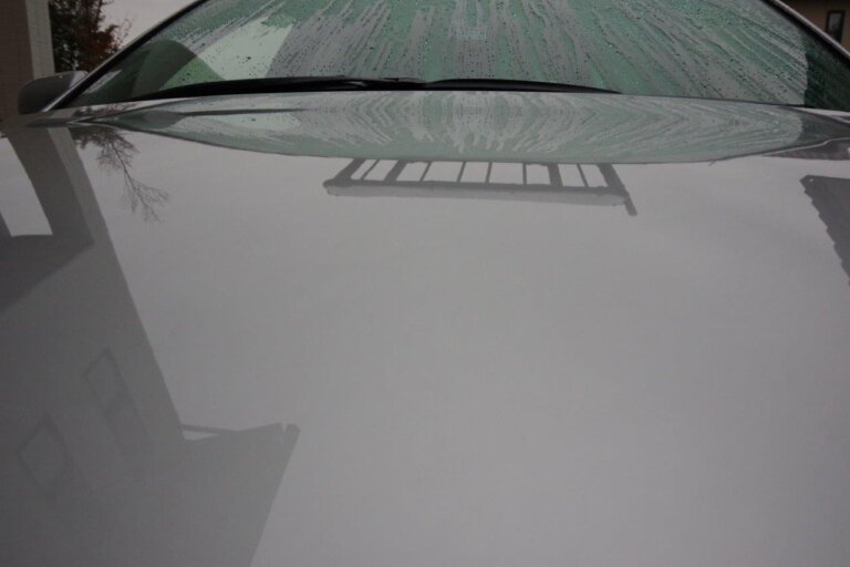 シャンプー洗車後