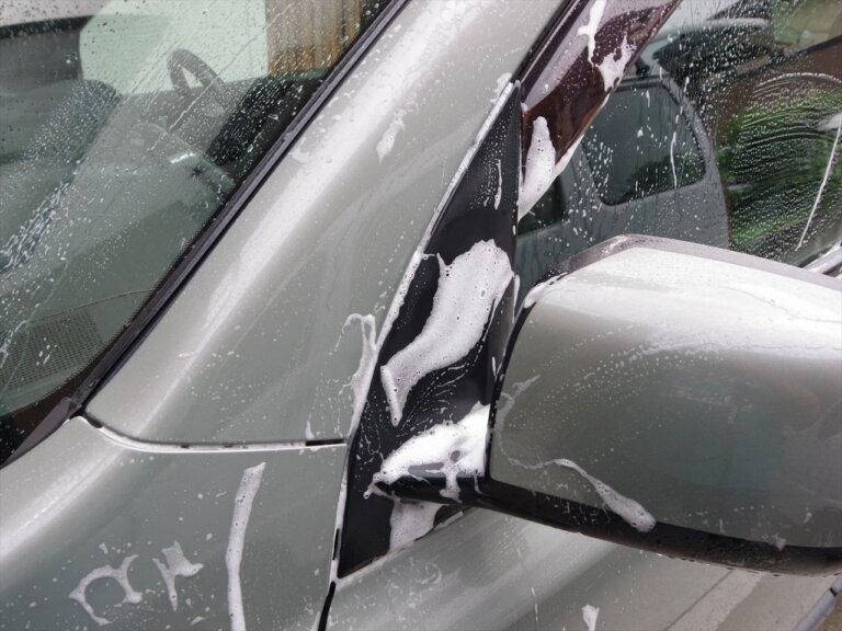 未塗装樹脂の復活_洗車